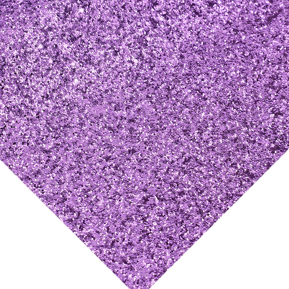 CHZIMADE 12inch x 53inch Chunky Leather Glitter Faux Fabric DIY Sheet Canvas Back Great for Hair Bows Making Craft
