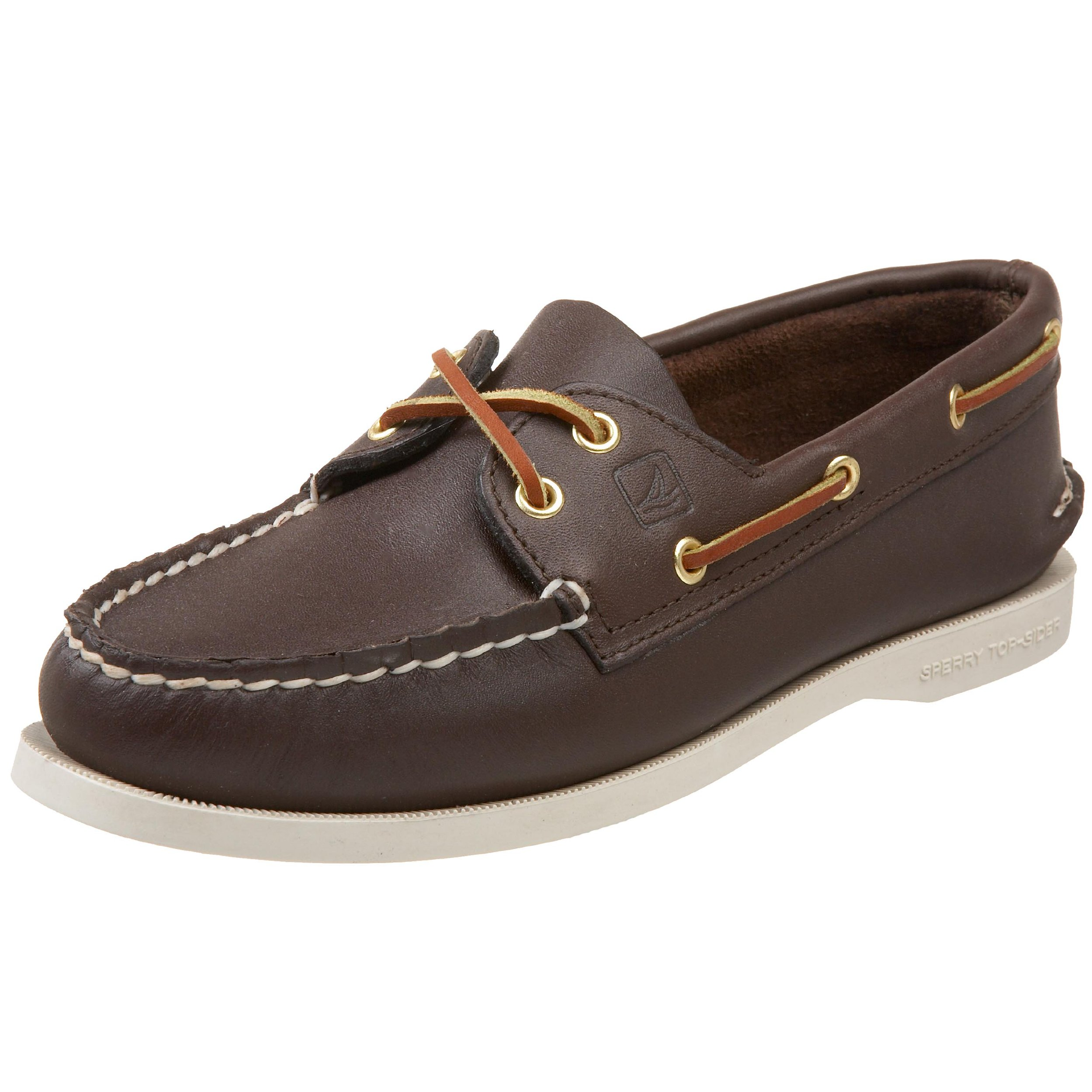 Sperry Womens A/O 2-Eye Boat Shoe, Classic Brown, 7.5 Wide by SPERRY