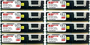 Komputerbay 32GB (8X 4GB) DDR2 PC2-5300F 667MHz CL5 ECC Fully Buffered FB-DIMM (240 PIN) 32 GB w/Heatspreaders