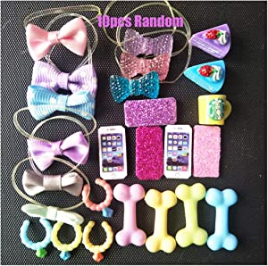 lps Pet Shop lps Accessories 8pcs Random lps Accessories Laptop Cellphone Bone Bows Kids Gift