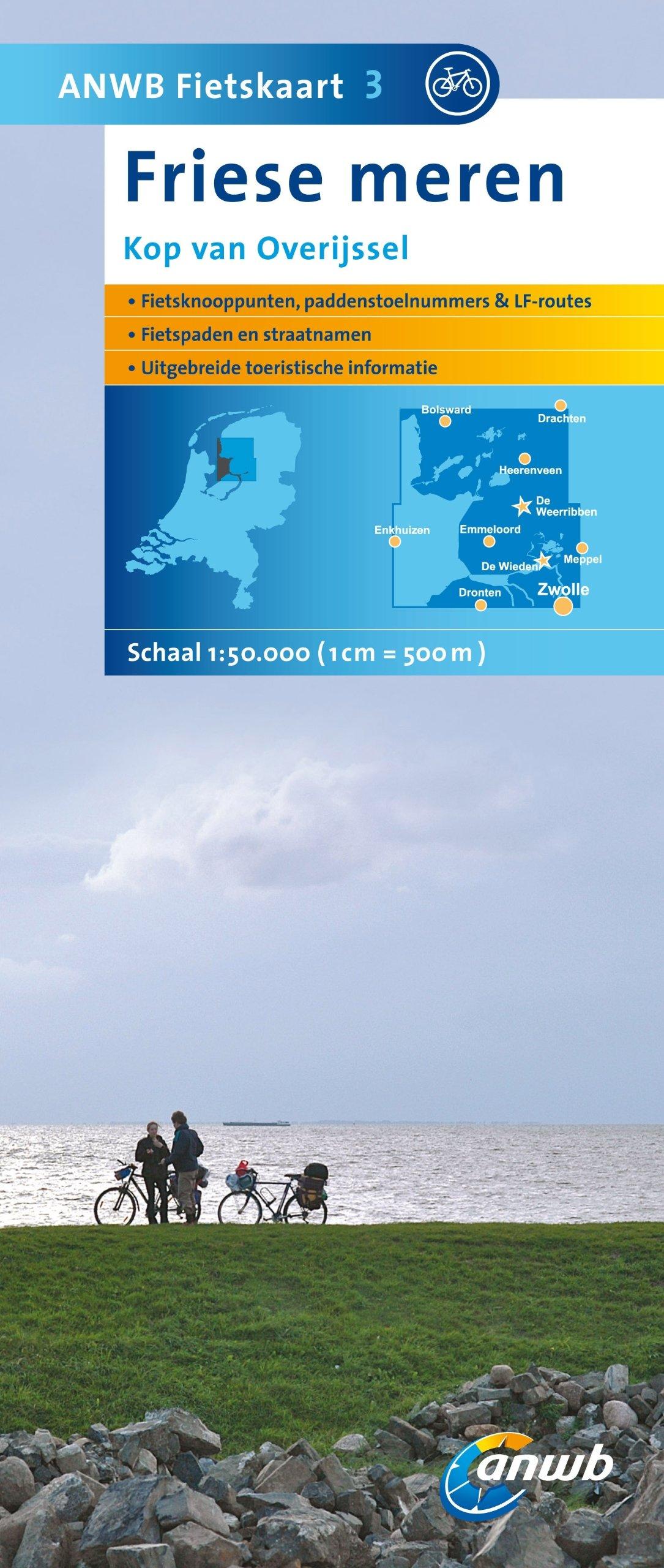 Friese Meren 3 Fietskaart Kop Van Overij (ANWB fietskaart (3))