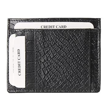 44f8db323fd1 AzraJamil Black Credit Card Case: Amazon.in: Bags, Wallets & Luggage