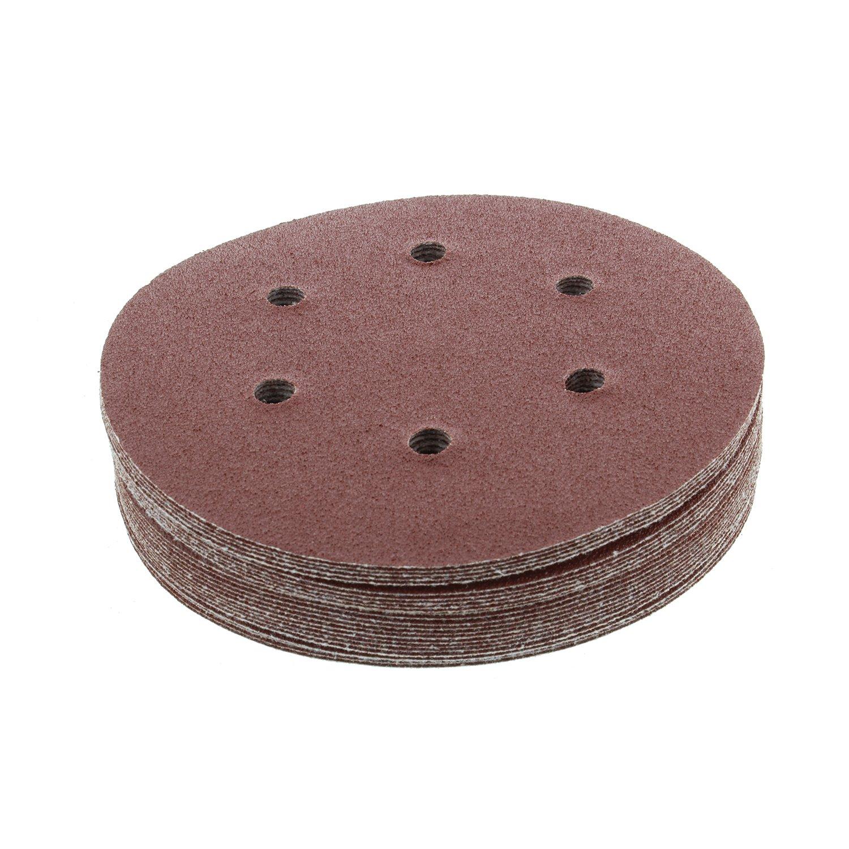 "ABN Aluminum Oxide Hook and Loop Adhesive Sanding Discs 25-Pack 6 Hole for Random Orbit Sanders 60 Grit 6/"" Inch"