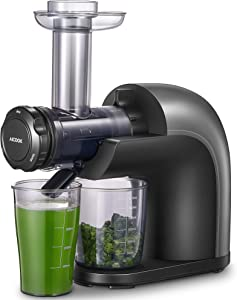 Juicer Machines, Aicook Higher Nutrition Cold Press Juicer, No Filter Design with Less Oxidation, Easy to Clean, Healthy Juicing Recipes for Whole Vegetables and Fruits, Multiple Modes for Different Flavors