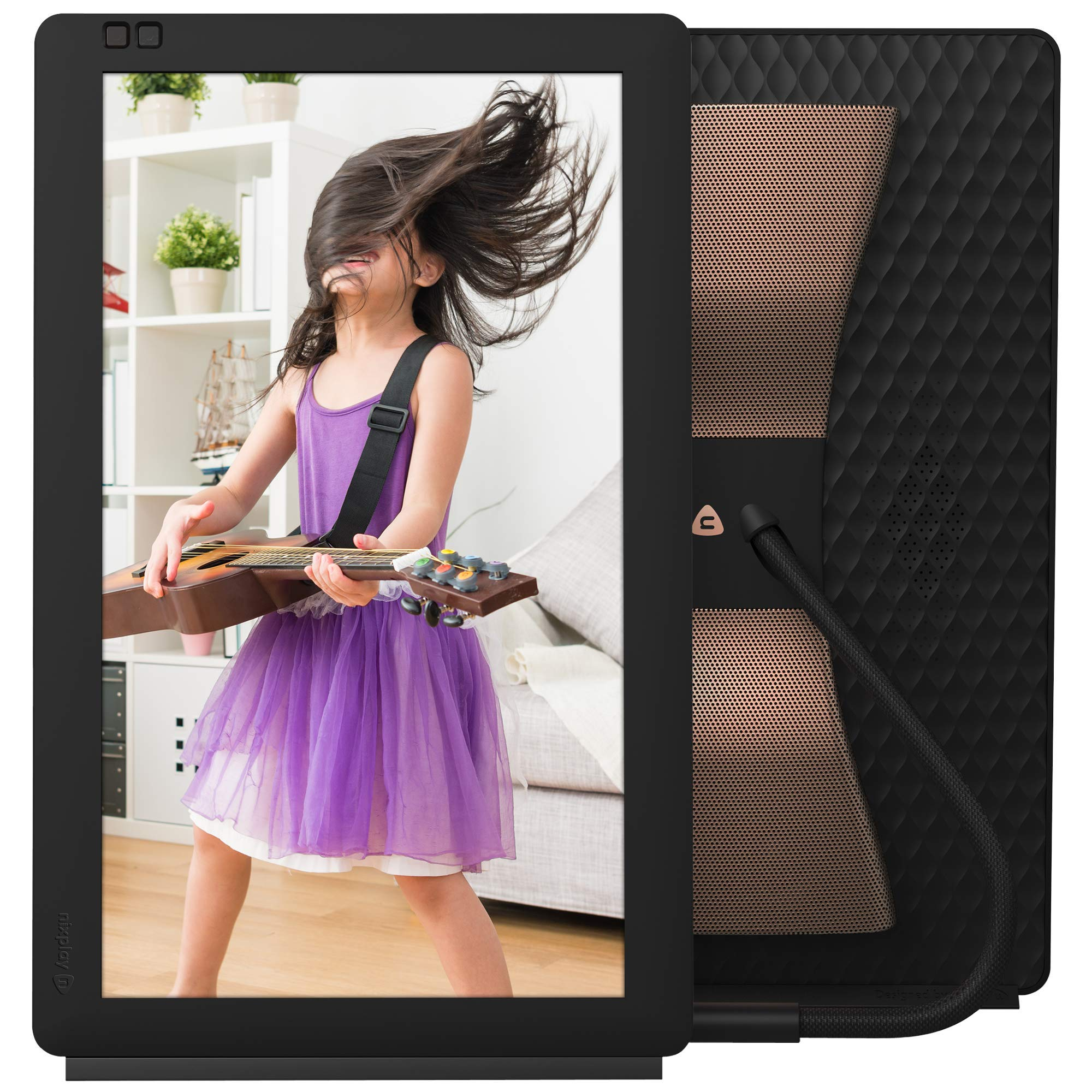 Nixplay Seed Wave 13.3 Inch Digital Wi-Fi Photo Frame W13C Black - Full HD Frame with Bluetooth Speakers, Motion Sensor and 10GB Storage, Display and Share Photos via The Nixplay Mobile App by nixplay