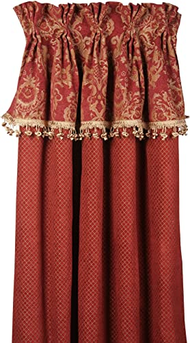 Jennifer Taylor Bacara 20 x 84 Rich Red and Gold Curtain Panel