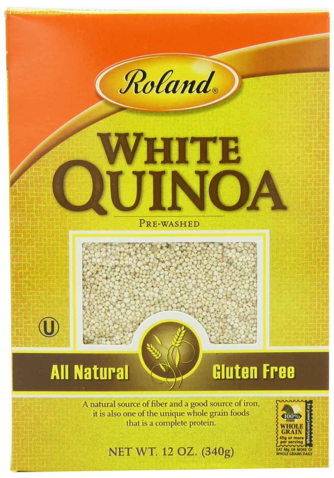 Roland Quinoa, White, 12 Ounce (Pack of 12)