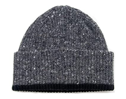 a7bd46c0942 Donegal Wool Knitted Beanie Hat - Brown - Made in Scotland  Amazon.co.uk   Clothing