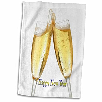 3d rose happy new year towel 15 x 22