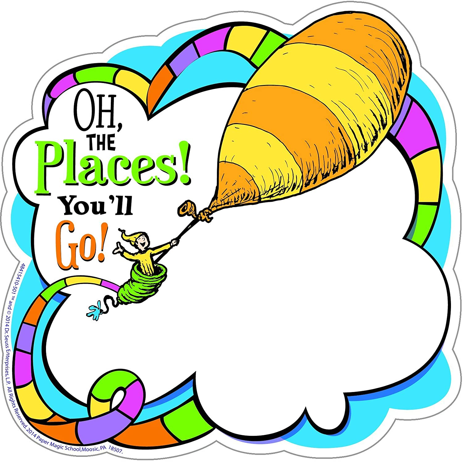 Eureka Dr Seuss Oh The Places Youll Go Paper Cut Outs For Schools And Classrooms 36pc 55 W X 55 H