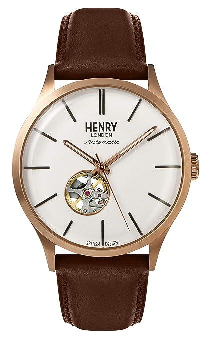 Henry London Reloj Analógico para Hombre de Cuarzo con Correa en ...