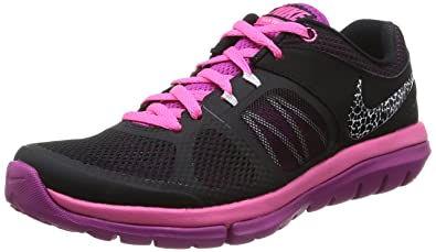 more photos e1d13 dc04c Nike Flex 2014 Run MSL Women Laufschuhe black-white-pink pow-fuchsia flash  - 42  Amazon.co.uk  Electronics