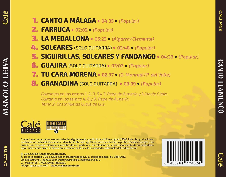 Canto Flamenco: Manolo Leiva, Pepe de Almería: Amazon.es: Música