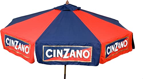 Heininger Red and Blue 9 Foot 1377 Cinzano 9 Market Patio Umbrella