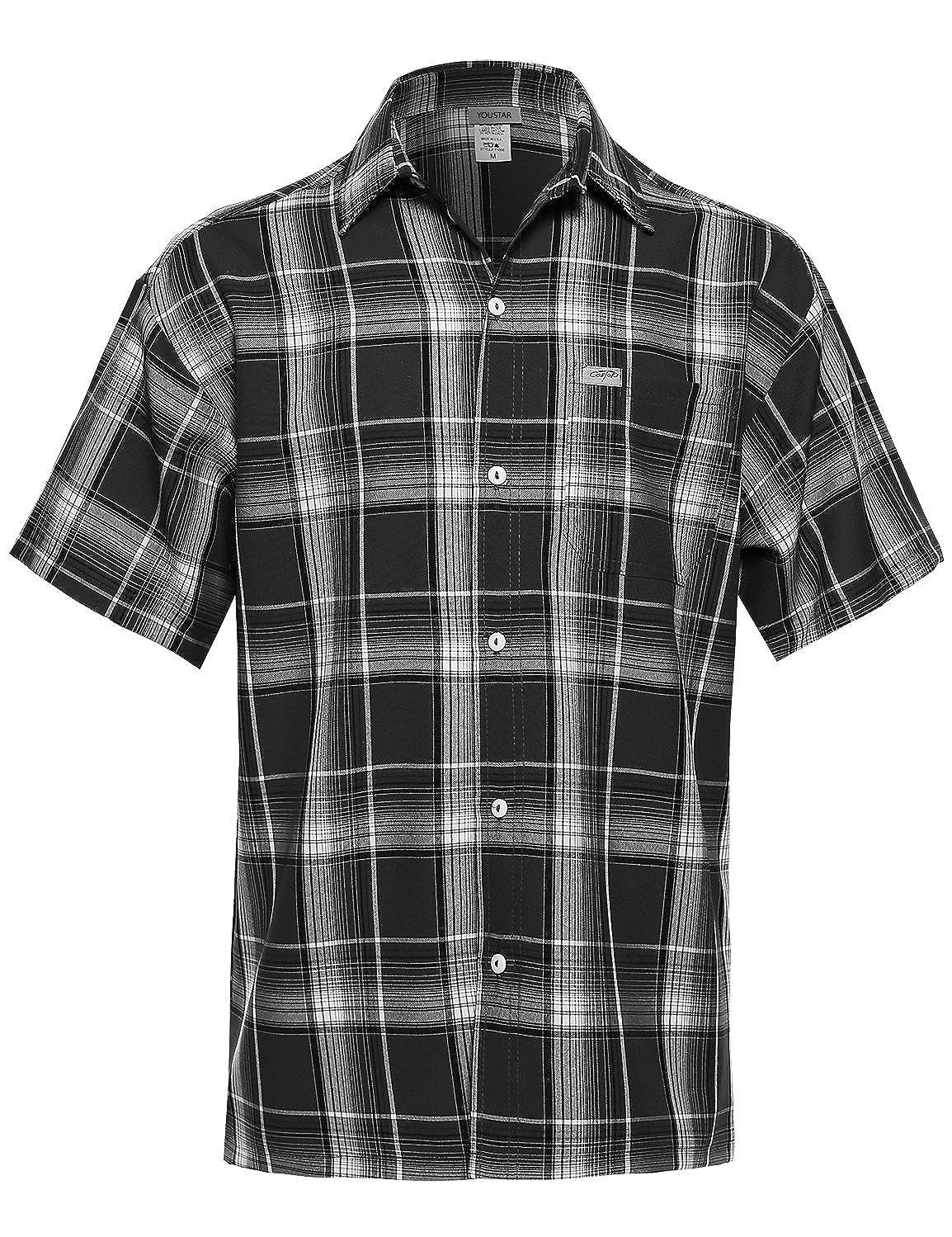Youstar Men's Western Casual Button Down Shirt