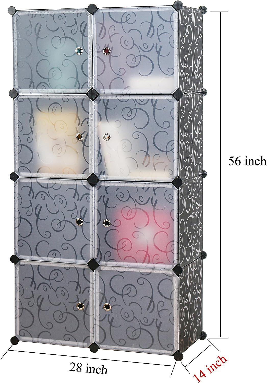 unicoo – Multi uso DIY plástico 8 cubo organizador, organizador de juguetes, estantería, armario de almacenamiento armario, armario: Amazon.es: Hogar