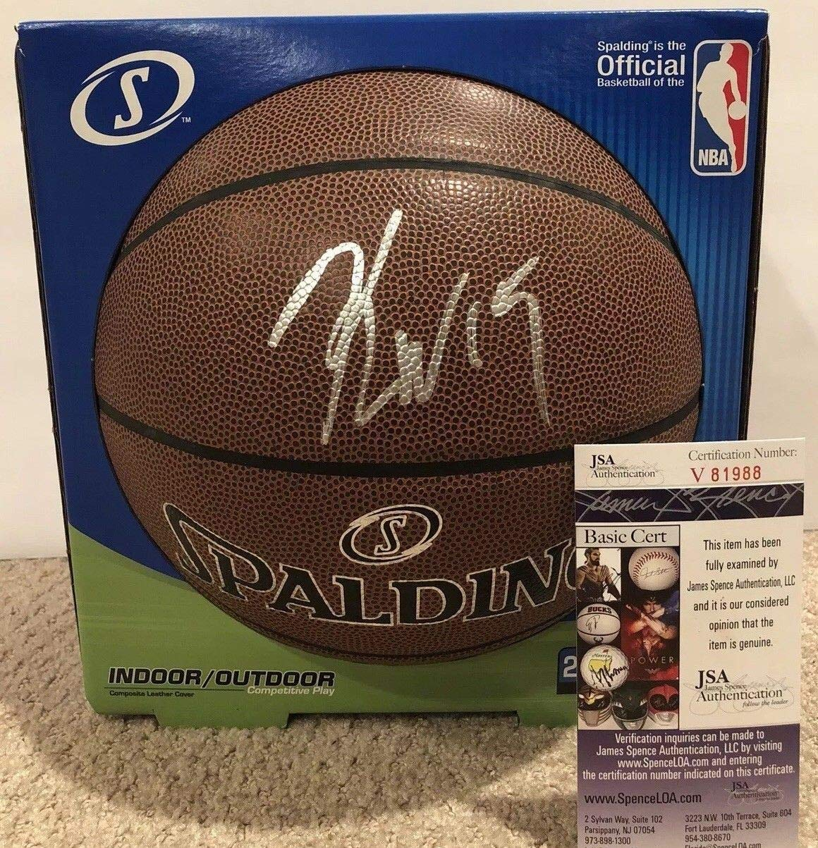 c2177916b90 Kemba Walker Autographed Signed 28.5 Basketball Memorabilia JSA COA  15  Charlotte Hornets Nba All Star at Amazon s Sports Collectibles Store