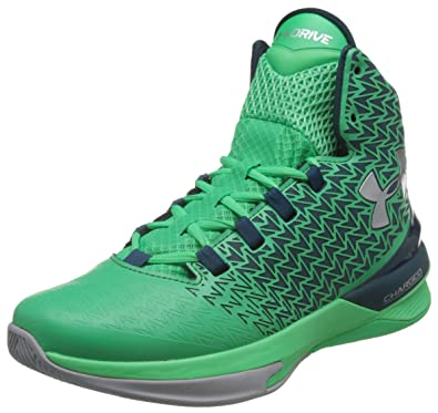 16868d12e18 Under Armour Men s UA ClutchFit Drive 3 Gamma Green Nova Teal Metallic  Silver Sneaker