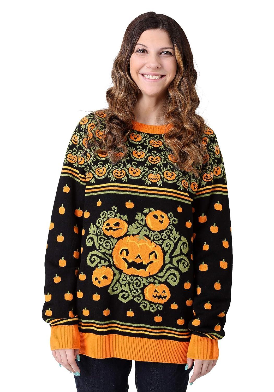 FUN Wear Pumpkin Patch Ugly Halloween Adult Sweater