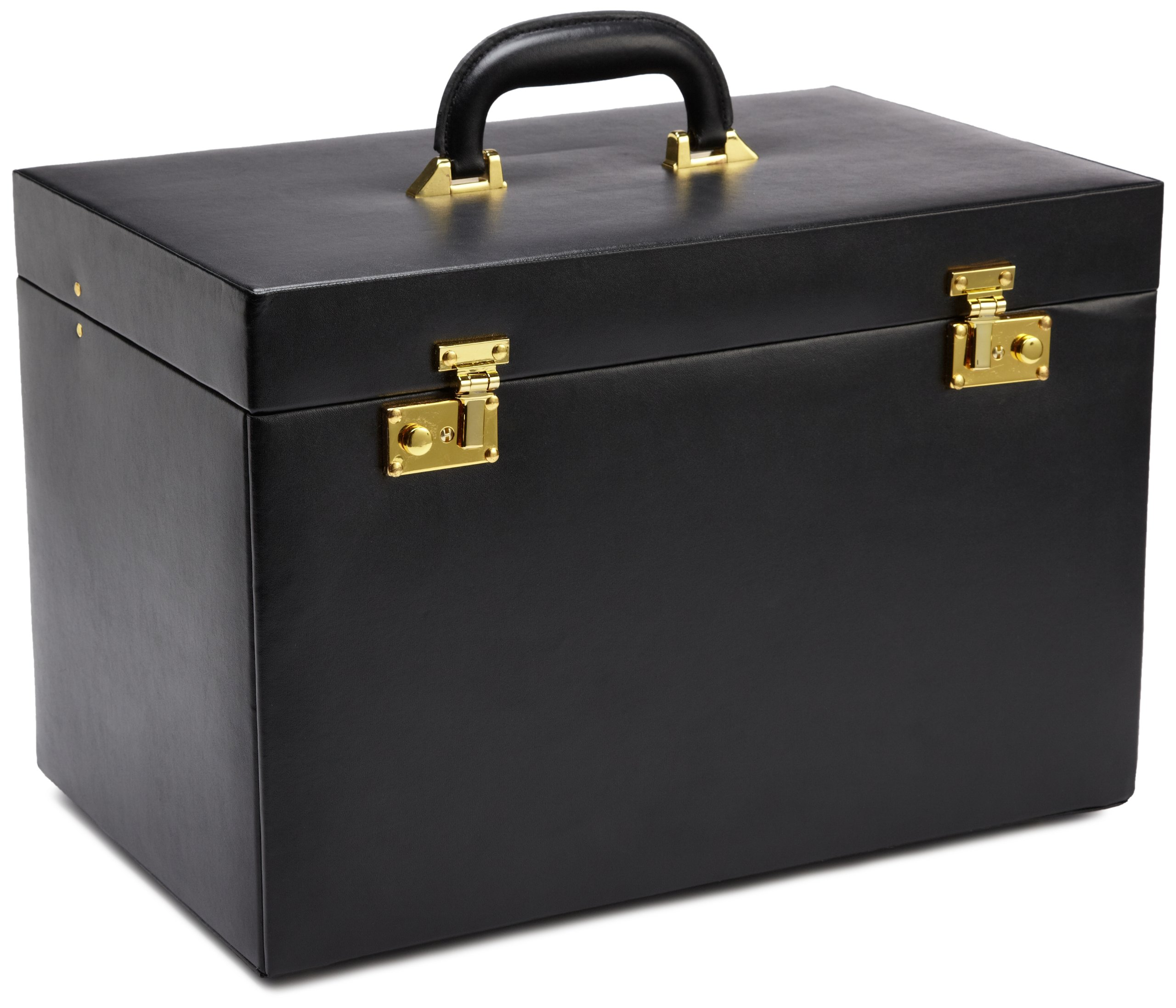 WOLF 280802 Heritage Jewelry Trunk, Black