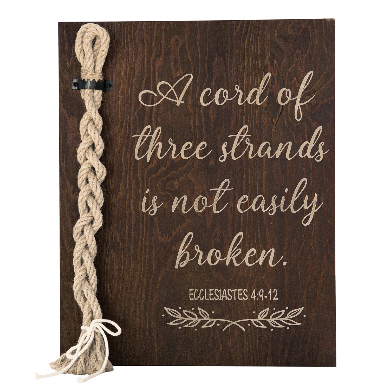 Ling's moment A Cord of Three Strands Wedding Sign-Alternative Wedding Unity Sign -Tie The Knot Ceremony-Strand of Three Cords Sign-Unity Cord Wedding Sign by Ling's moment