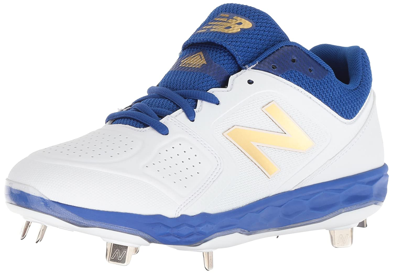 New Balance Women's Velo V1 Metal Softball Shoe B075R755BT 8.5 D US|Royal/White