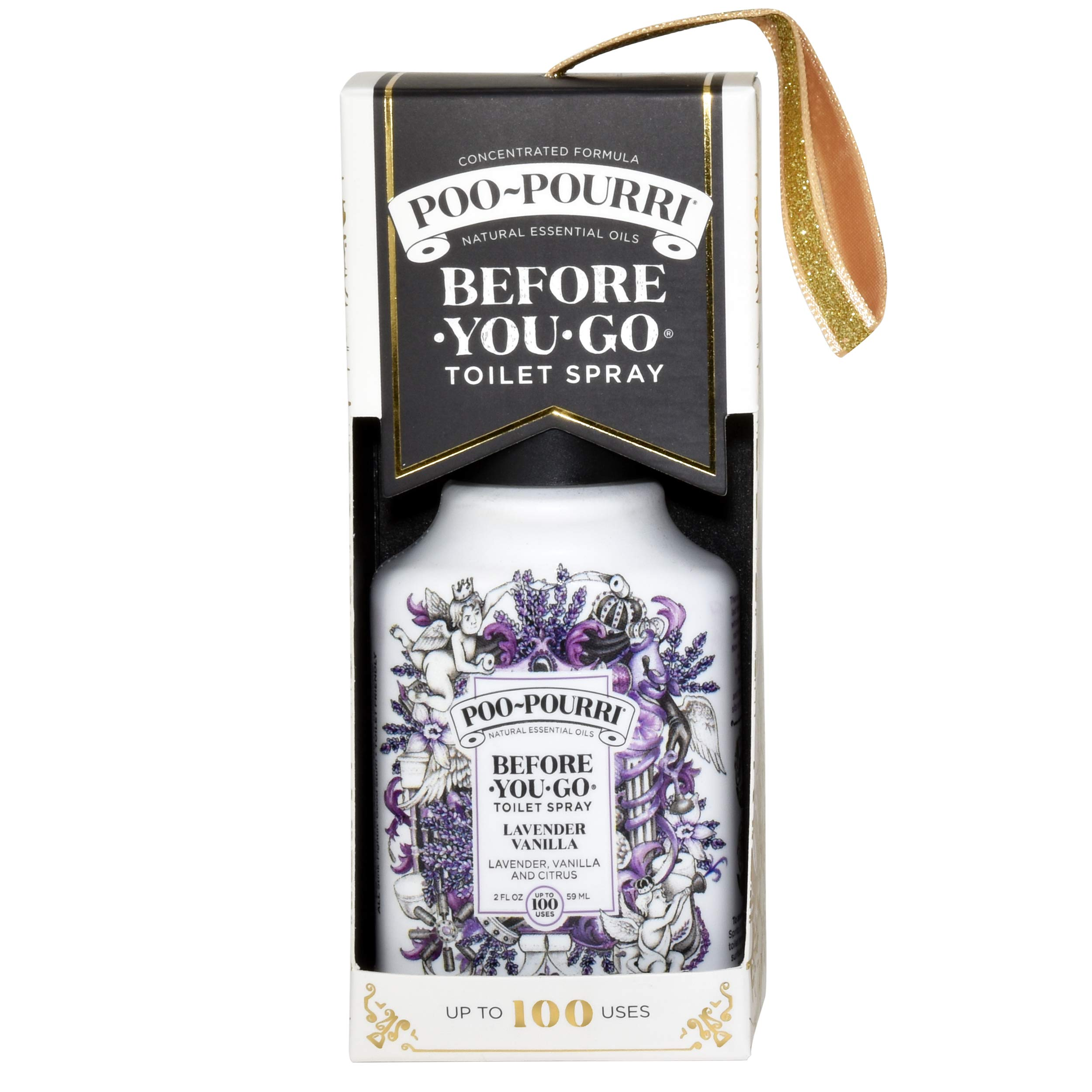 Poo-Pourri Lavender Vanilla 2 Ounce, 4 Ounce, Travel Size Spritzer, and Box by Poo-Pourri (Image #2)