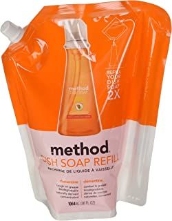 Method Products 01315ea 36 Oz Pouch Dish Soap Refill Sea Minerals Home & Garden Household Supplies & Cleaning