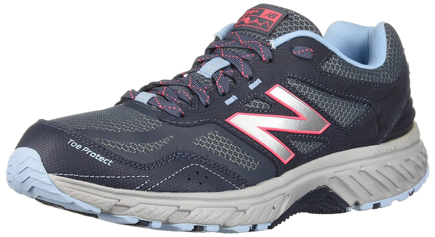 New Balance Women's 510v4 Cushioning Trail Running Shoe B0751Q92GS 9.5 D US|Thunder
