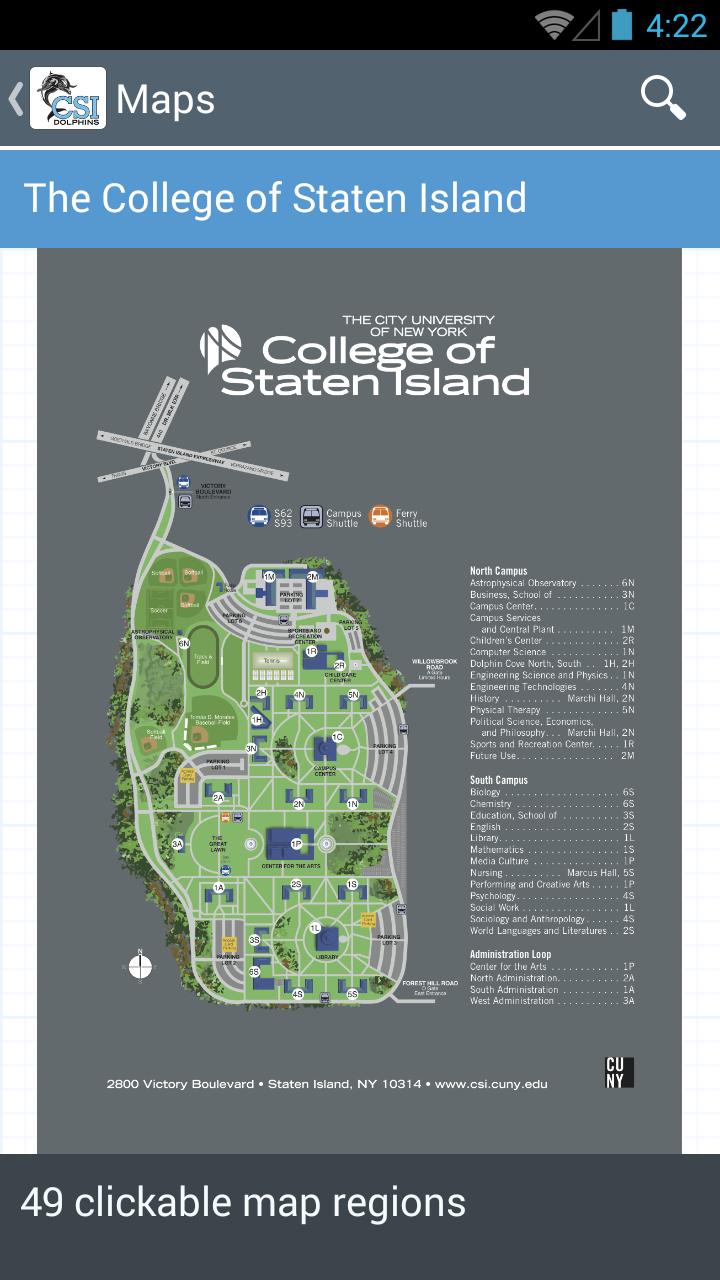 College of Staten Island on staten island college map, staten island new york map, staten island zip code map,