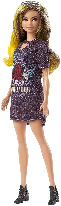 Amazon.es: Barbie Fashionista, muñeca 32cm con Look de Estrella de Rock glamurosa (Mattel FJF47): Juguetes y juegos