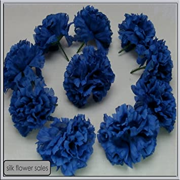 Amazon 144 royal blue carnation picks artificial silk flowers 144 royal blue carnation picks artificial silk flowers wedding buttonholes funeral tributes free pp mightylinksfo