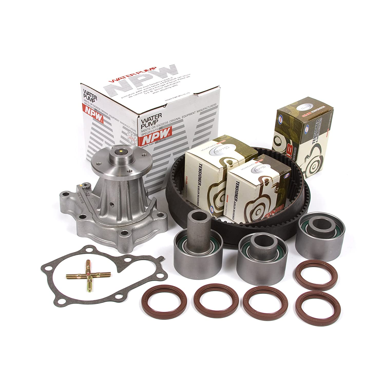 Amazon.com: Fits 90-96 Nissan Turbo 3.0 DOHC 24V VG30DE VG30DETT Timing Belt Kit GMB Water Pump: Automotive
