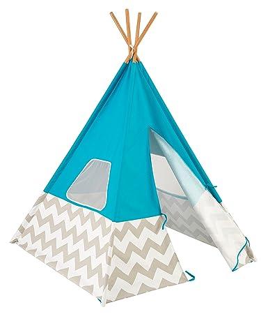 sc 1 st  Amazon.com & Amazon.com: KidKraft Teepee Tent Turquoise: Toys u0026 Games
