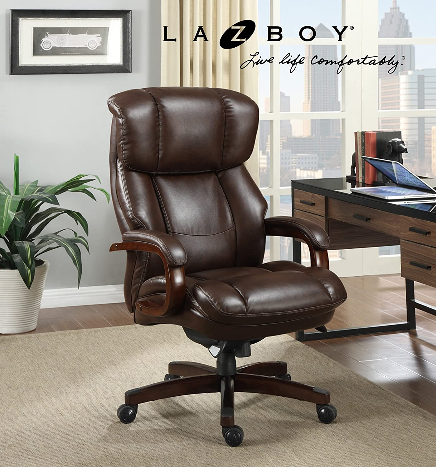 Amazon La Z Boy Fairmont Big & Tall Executive Bonded Leather