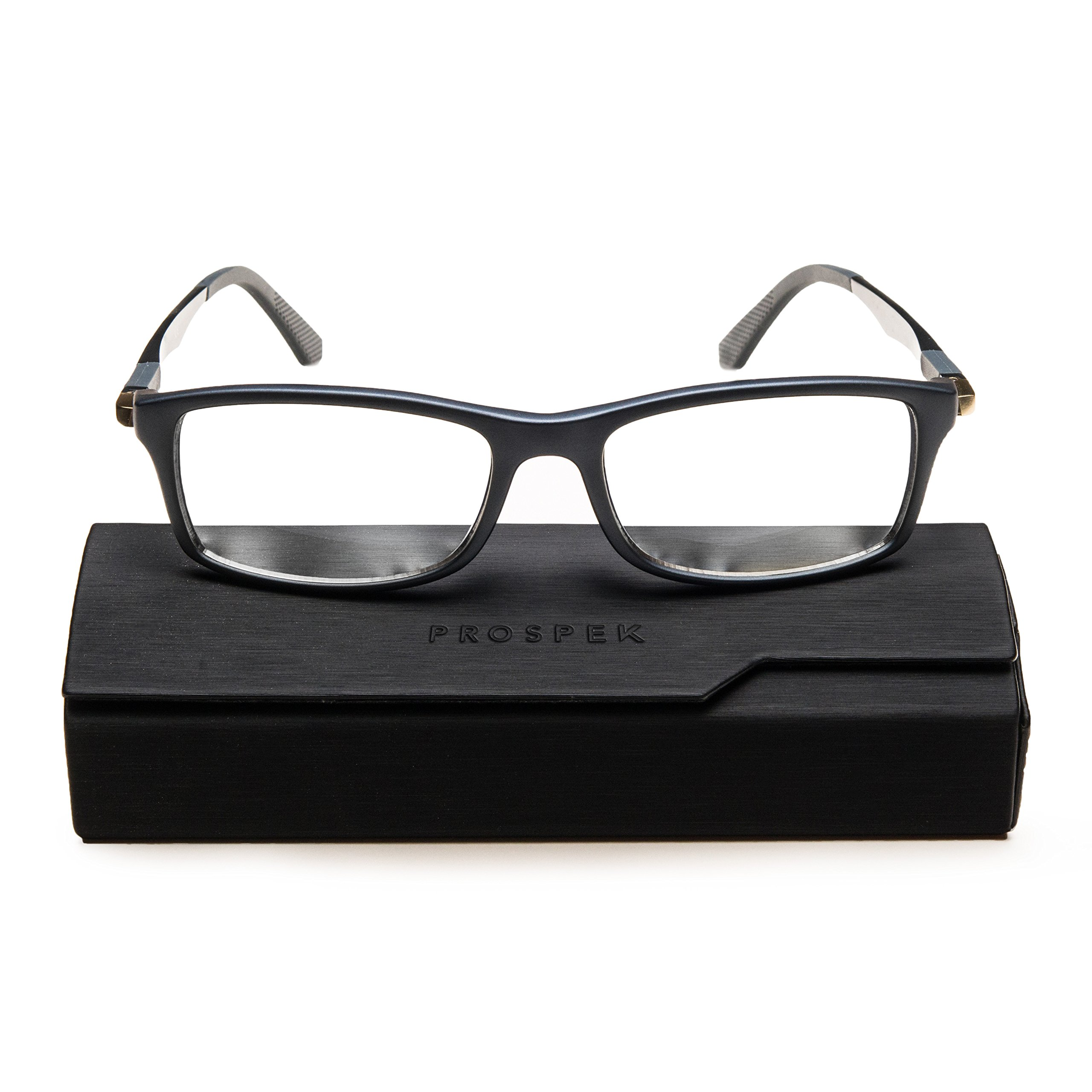 PROSPEK - Computer Glasses - Blue Light Blocking Glasses - Dynamic (+0.00 (No Magnification)   Regular Size, Gray) by Prospek