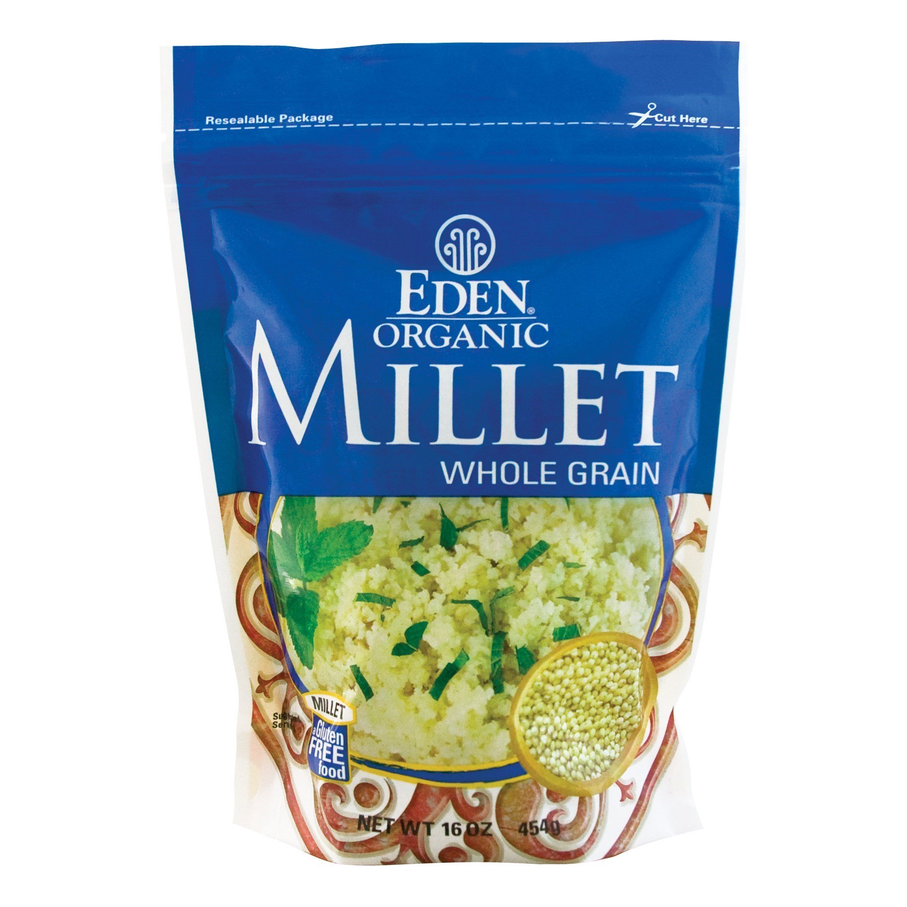 EDEN Millet, Whole Grain,16 -Ounce Pouches (Pack of 12)