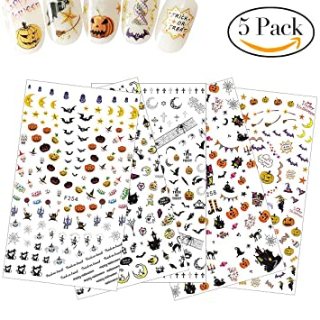halloween nail stickers set nail art stickers designs decal manicure diy decorations 4pcs