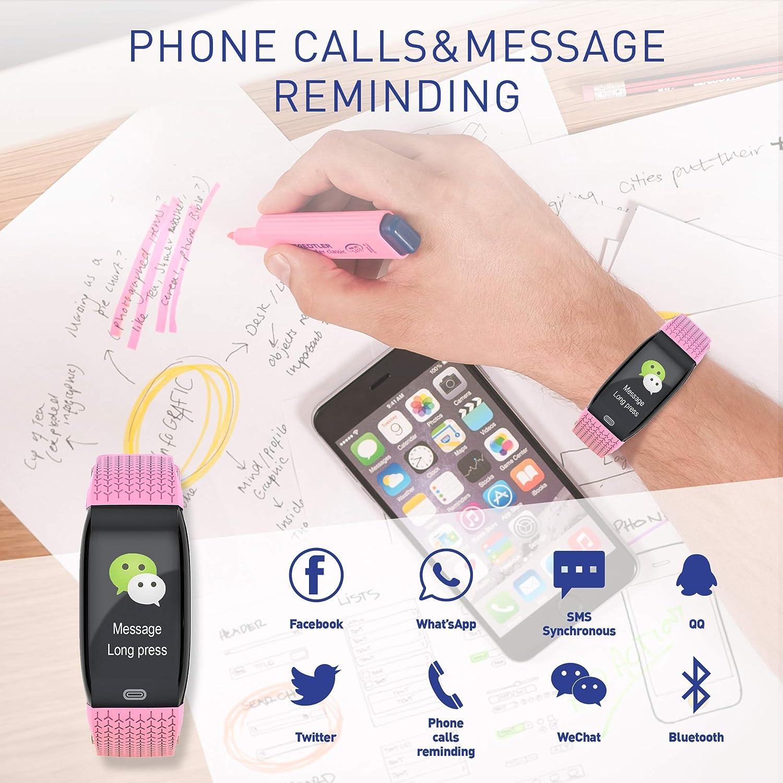 JREAR Orologio Fitness Tracker Smartwatch Pressione Sanguigna Cardiofrequenzimetro Bluetooth Activity Tracker IP67 Impermeabile Orologio Sportivo Contapassi Smartband per Uomini Donne e Bambini