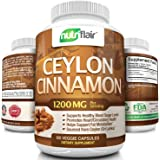 NutriFlair Ceylon Cinnamon 1200 Milligrams per Serving, 120 Capsules