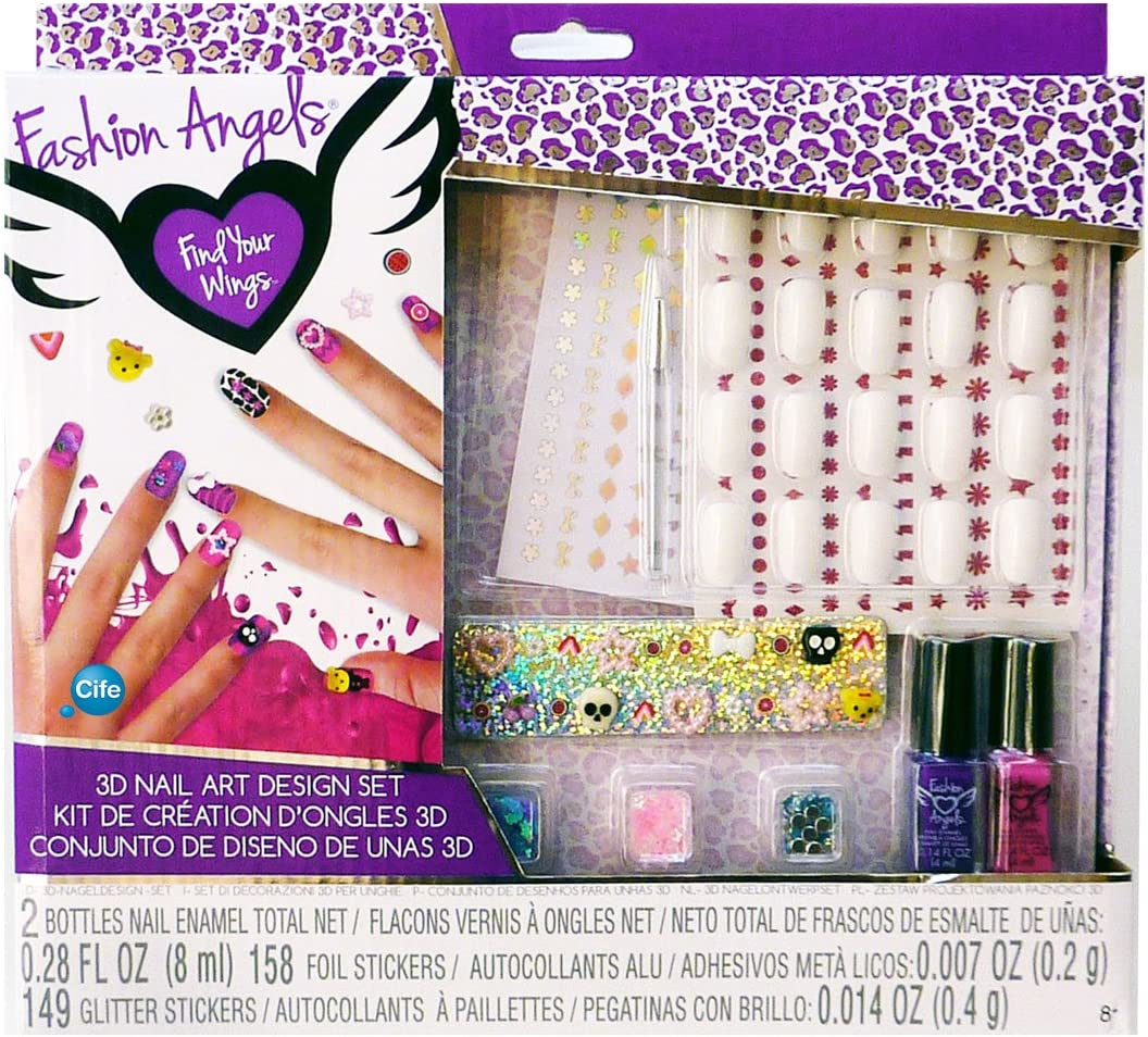 Fashion Angels 3d Nail Art Manicure Set 86584 Amazon Co Uk Toys Games