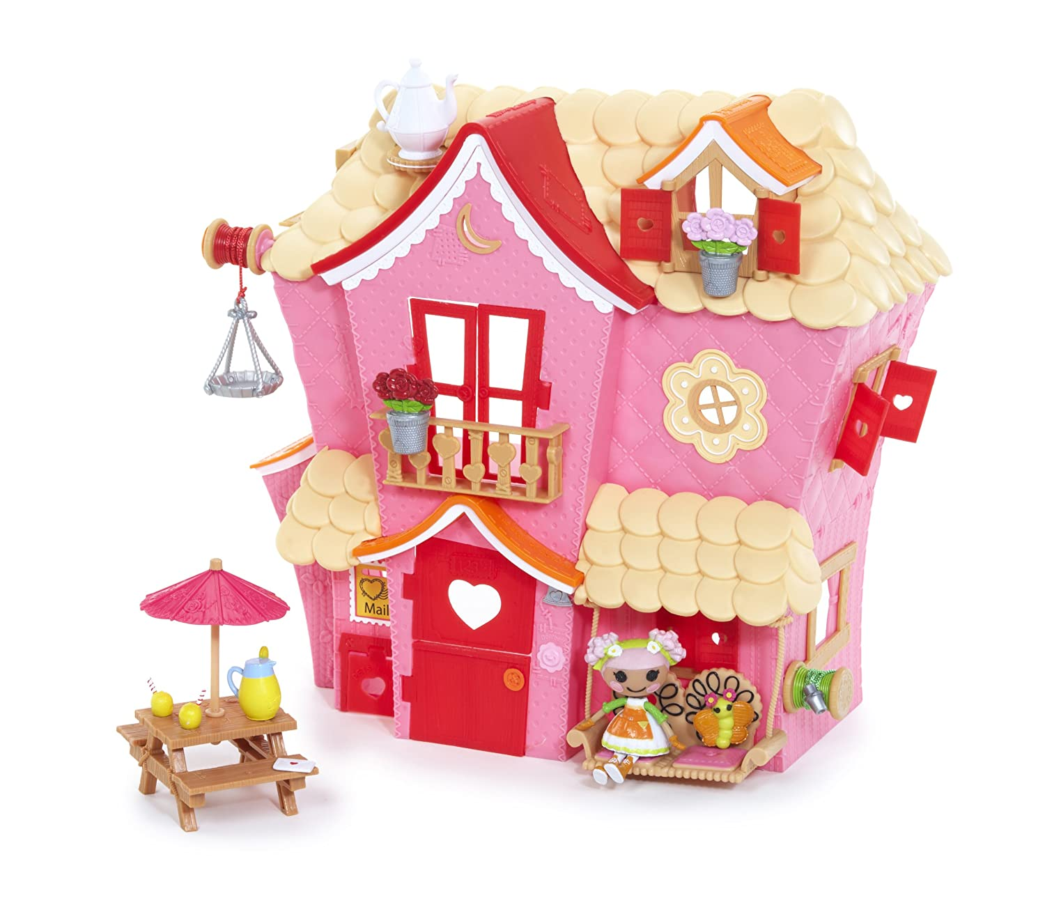 Amazon.com: MGA Mini Lalaloopsy Sew Sweet House Playhouse With Exclusive  Character: Toys U0026 Games