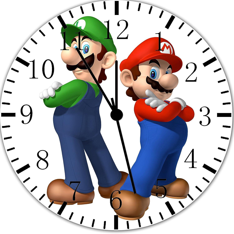 Super Mario Bros. Luigi Frameless Borderless Wall Clock X35 Nice for Gift or Room Wall Decor Frameless Clock