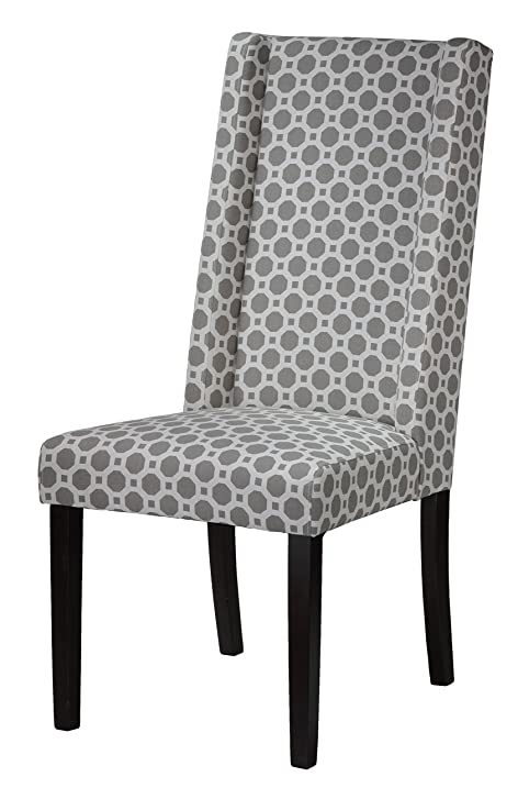 Gentil Cortesi Home Jenna Dining Chair In Grey Pattern Fabric (Set Of 2)