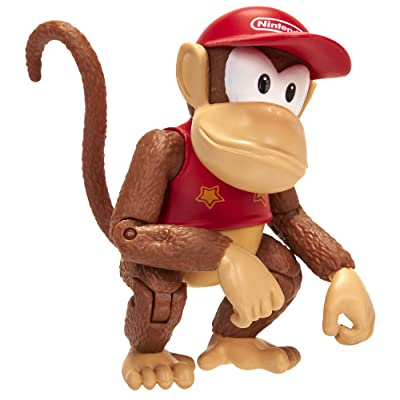 "World of Nintendo 4"" Diddy Kong with Banana Accessory: Toys & Games"
