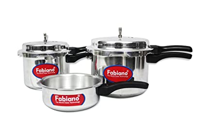 Fabiano Appliances (Isi) Pressure Cooker 3Pc Set - 2,3,5L With Outer Lid Kitchen Combo