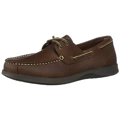 Nunn Bush Men's Bayside Boat Shoe Two Eye Oxford, Dark Brown, 11 | Oxfords