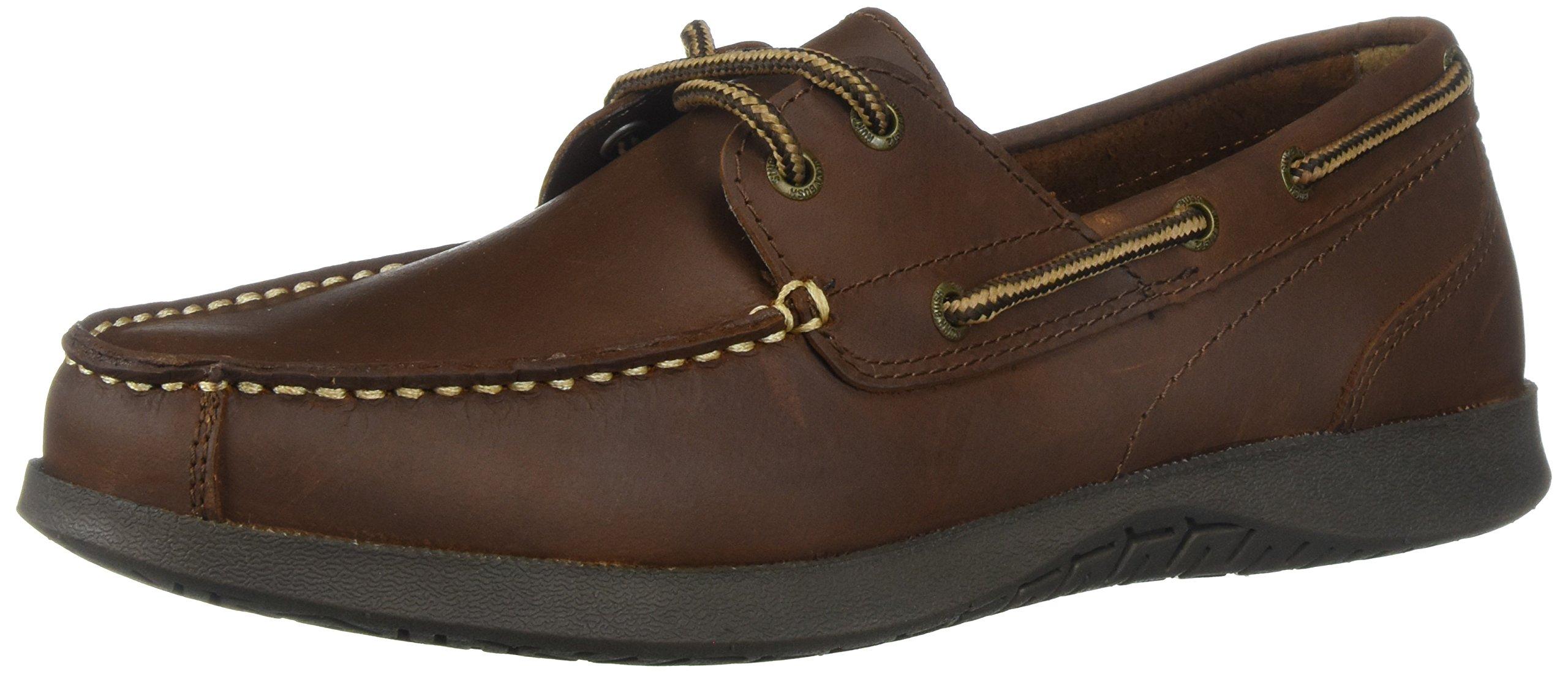 Nunn Bush Men's Bayside Two-Eye Boat Shoe, Brown/Brown, 10 Wide US