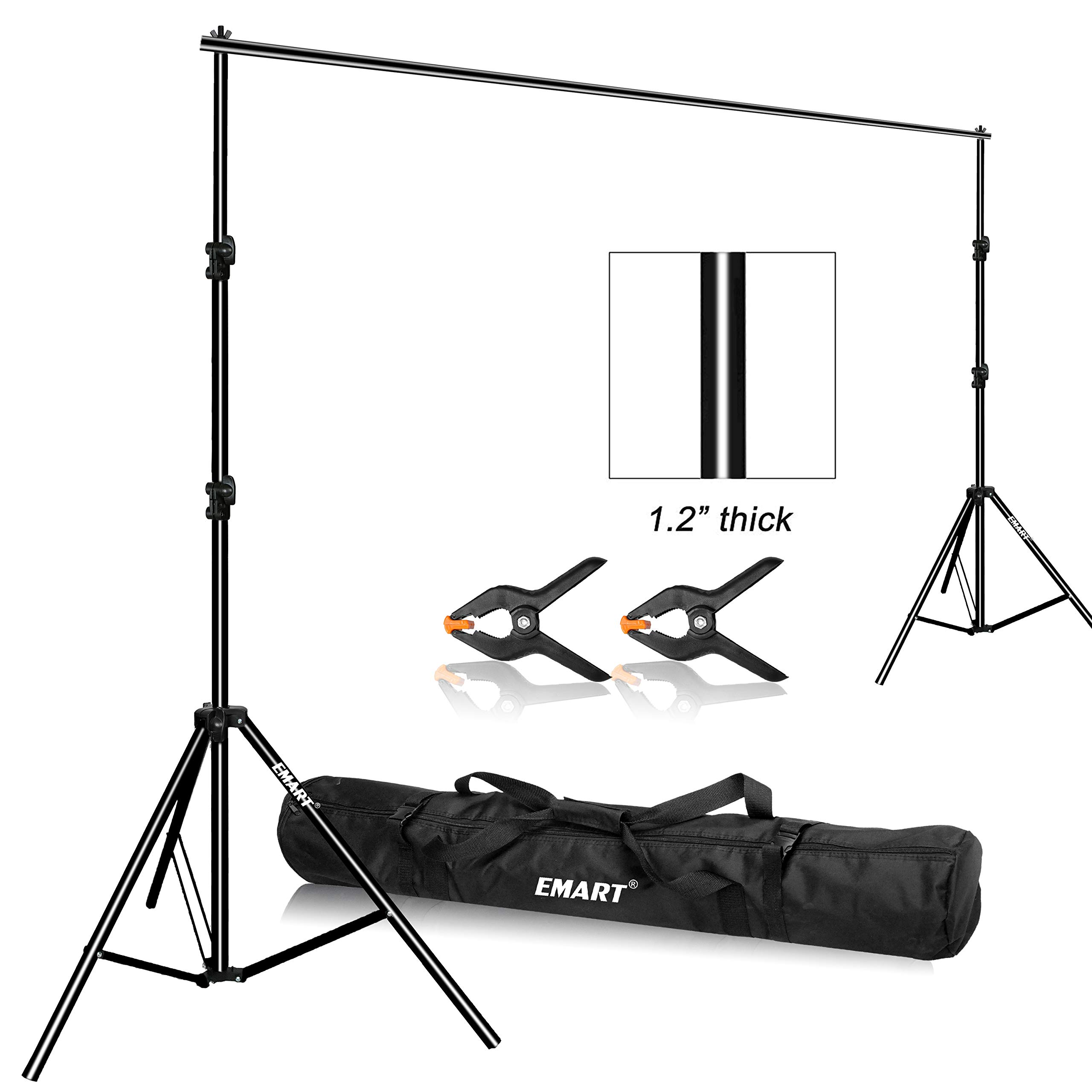 Emart Photo Video Studio 9.2 x 10ft Heavy Duty Background Stand Backdrop Support System Kit with Carry Bag for Photography by EMART