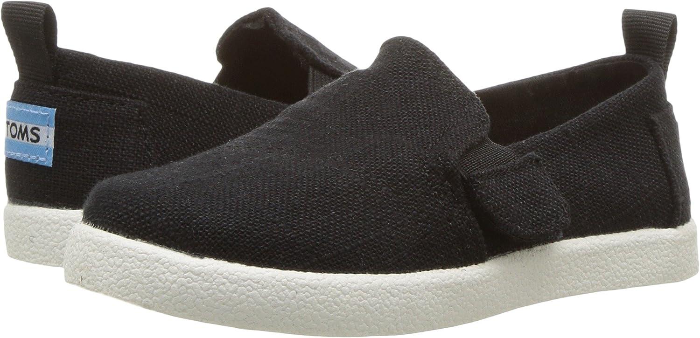 cf3e51e5f8e0 Amazon.com  TOMS Kids Baby Boy s Avalon (Infant Toddler Little Kid) Black  Washed Cotton Shoe  Shoes